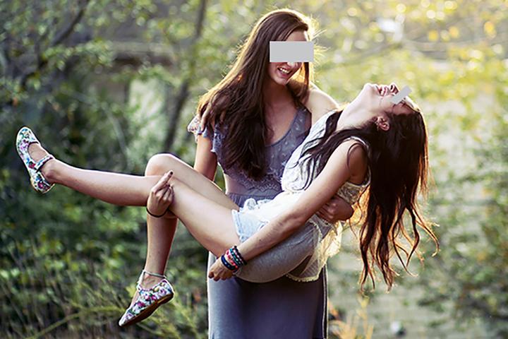 Первая любовь девушек лесби