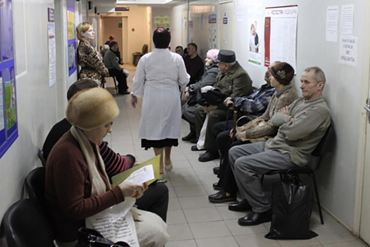 Очереди в российских больницах